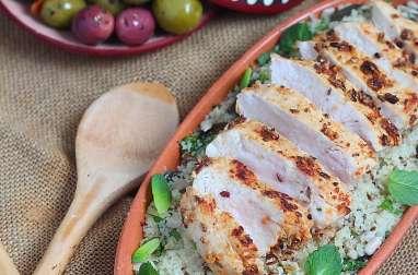 Salade tiède de couscous aux graines