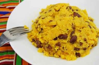Pommes de terre et haricots pilés