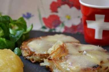 Röstis à la Tomme de Savoie et compote de pommes
