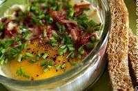 Oeufs cocotte bacon ciboulette