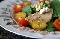 Salade au foie gras