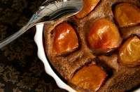Clafoutis abricots et chocolat