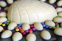 Petits oeufs au chocolat blanc