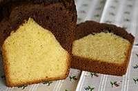 Cake marbré vanille/chocolat amer