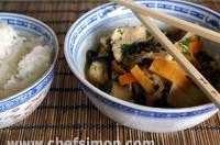 Poulet sauté au wok