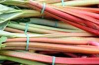 éplucher et cuire la rhubarbe