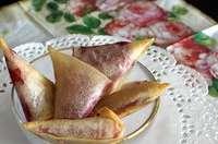 Samoussas framboises chocolat blanc