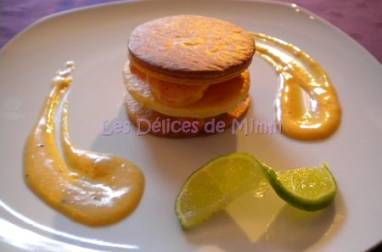 Mille-feuille de scampis à l'orange