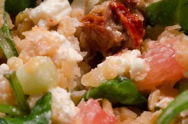 Salade de roquette aux lentilles corail et feta