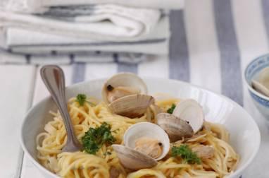 Spaghettis aux palourdes et safran