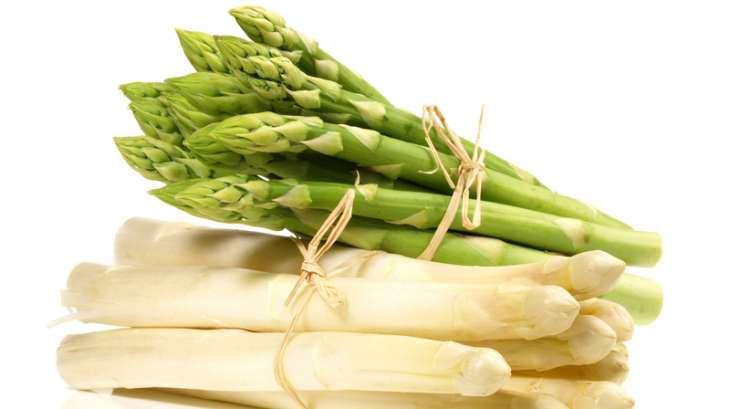 Duo d'asperges vertes et blanches