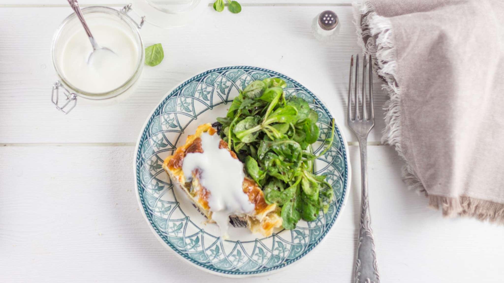 Tarte allégée asperge thon et fromage Merzer