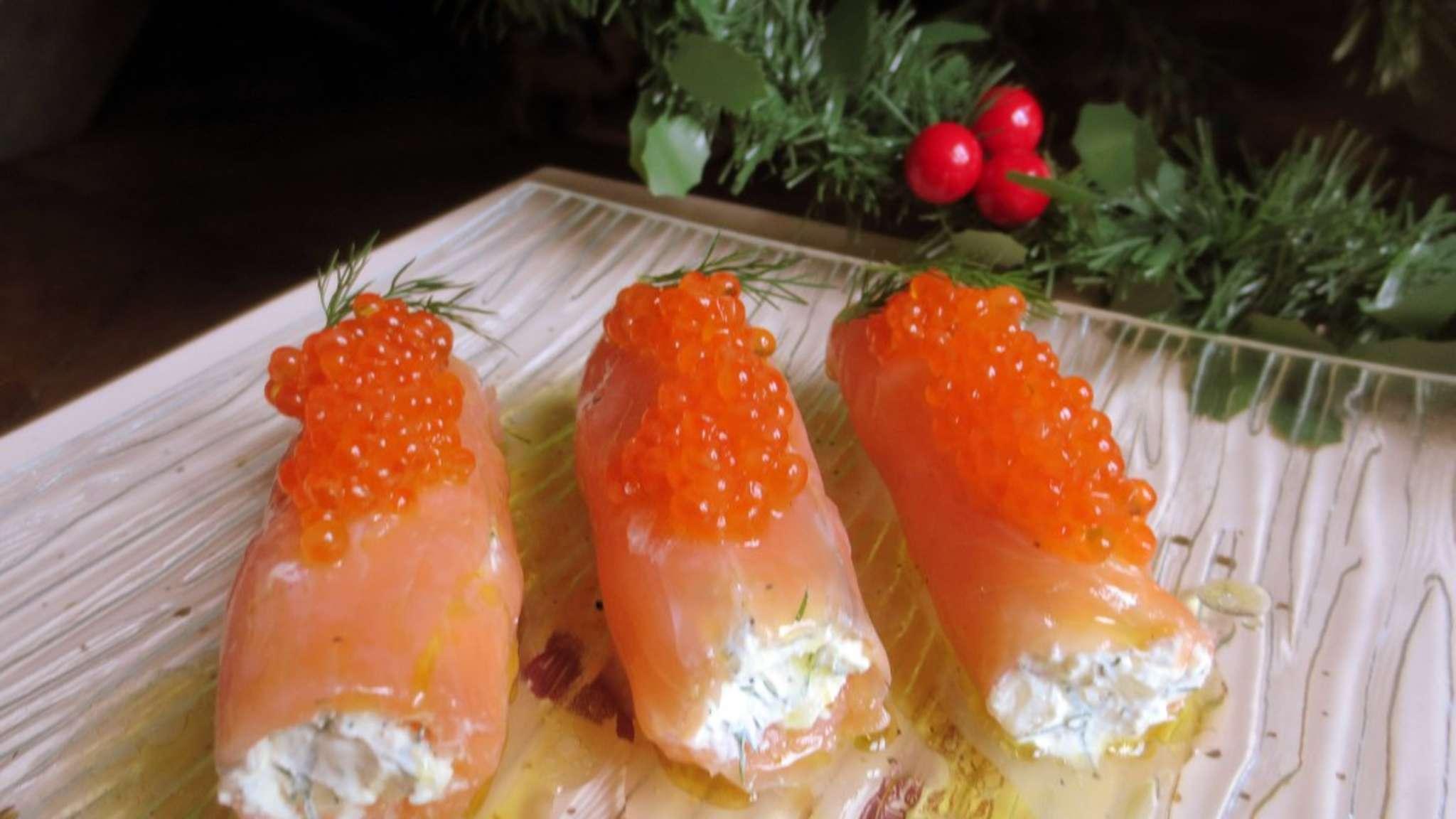 Cannelloni de saumon, mascarpone et aneth