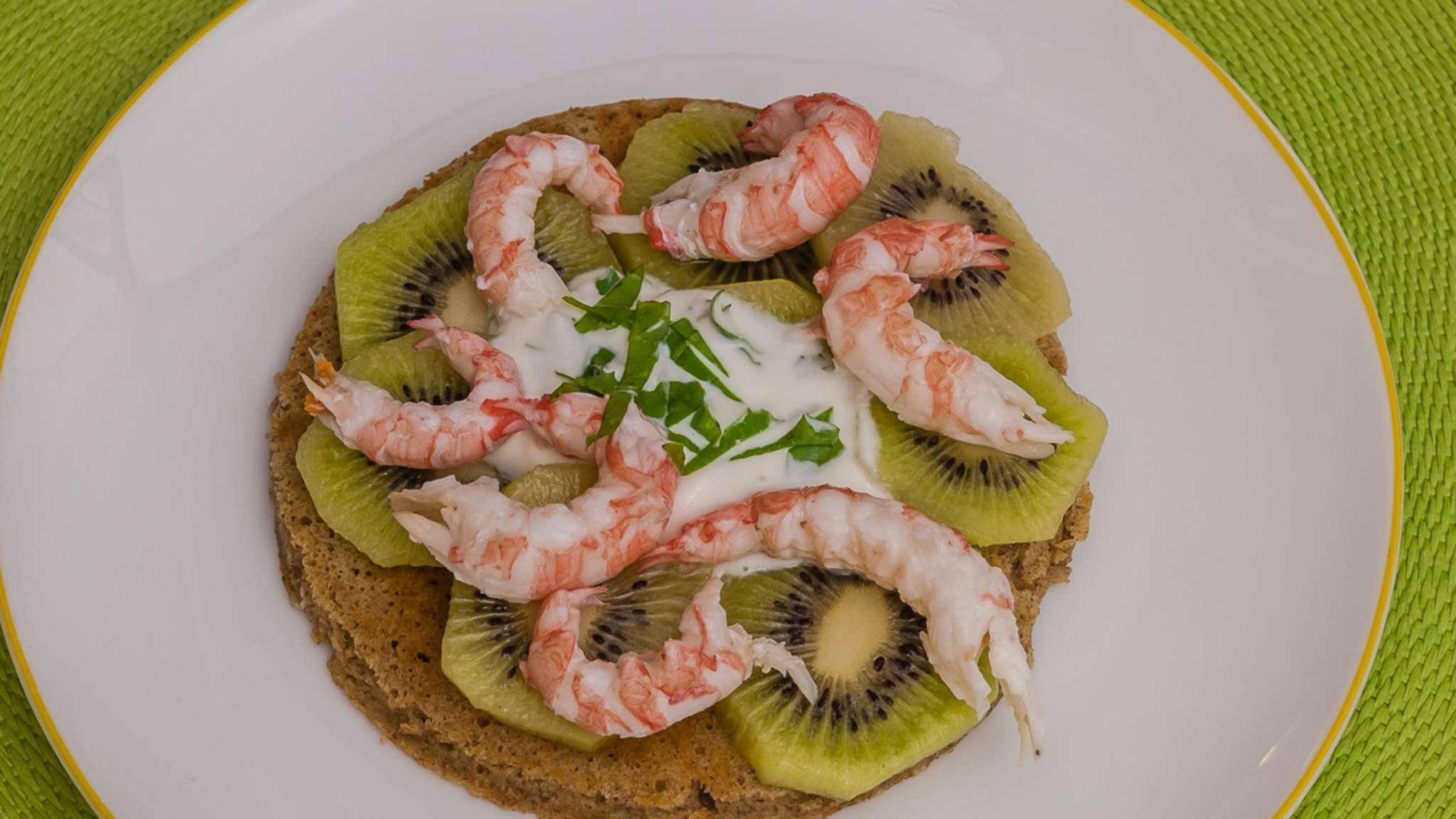 Blinis Kiwi langoustines