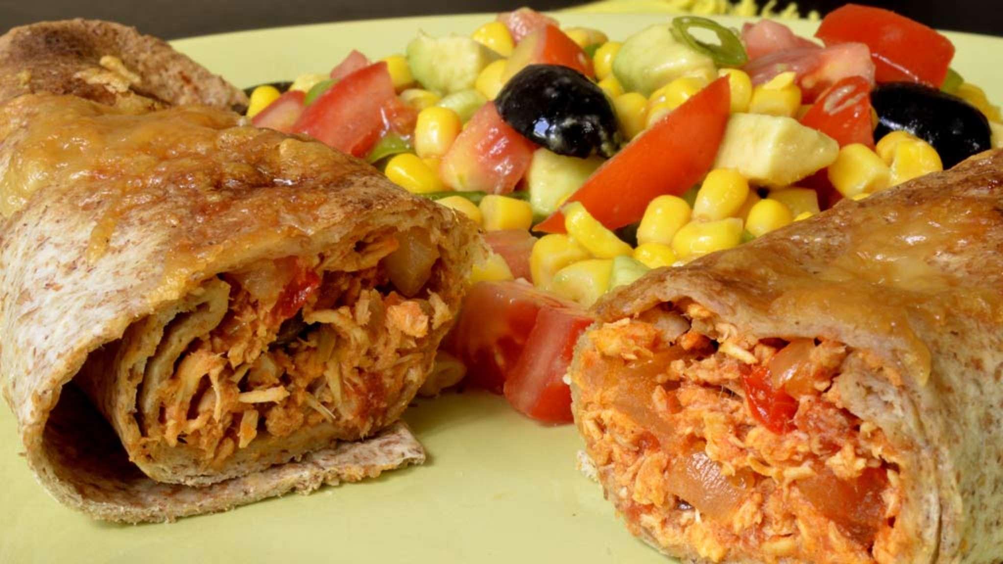 Fajitas gratinées aux restes de poulet