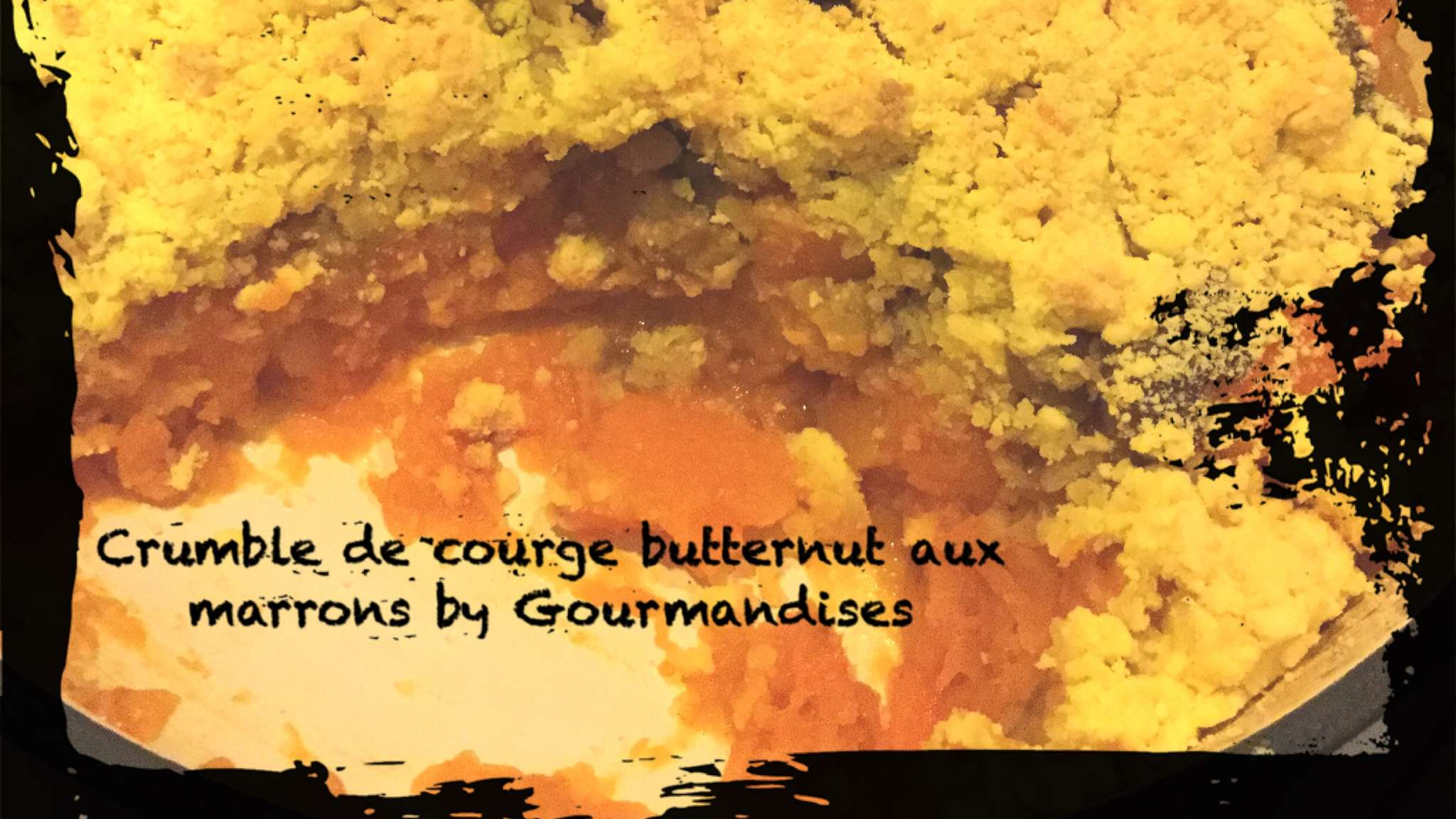 Crumble de butternut aux marrons