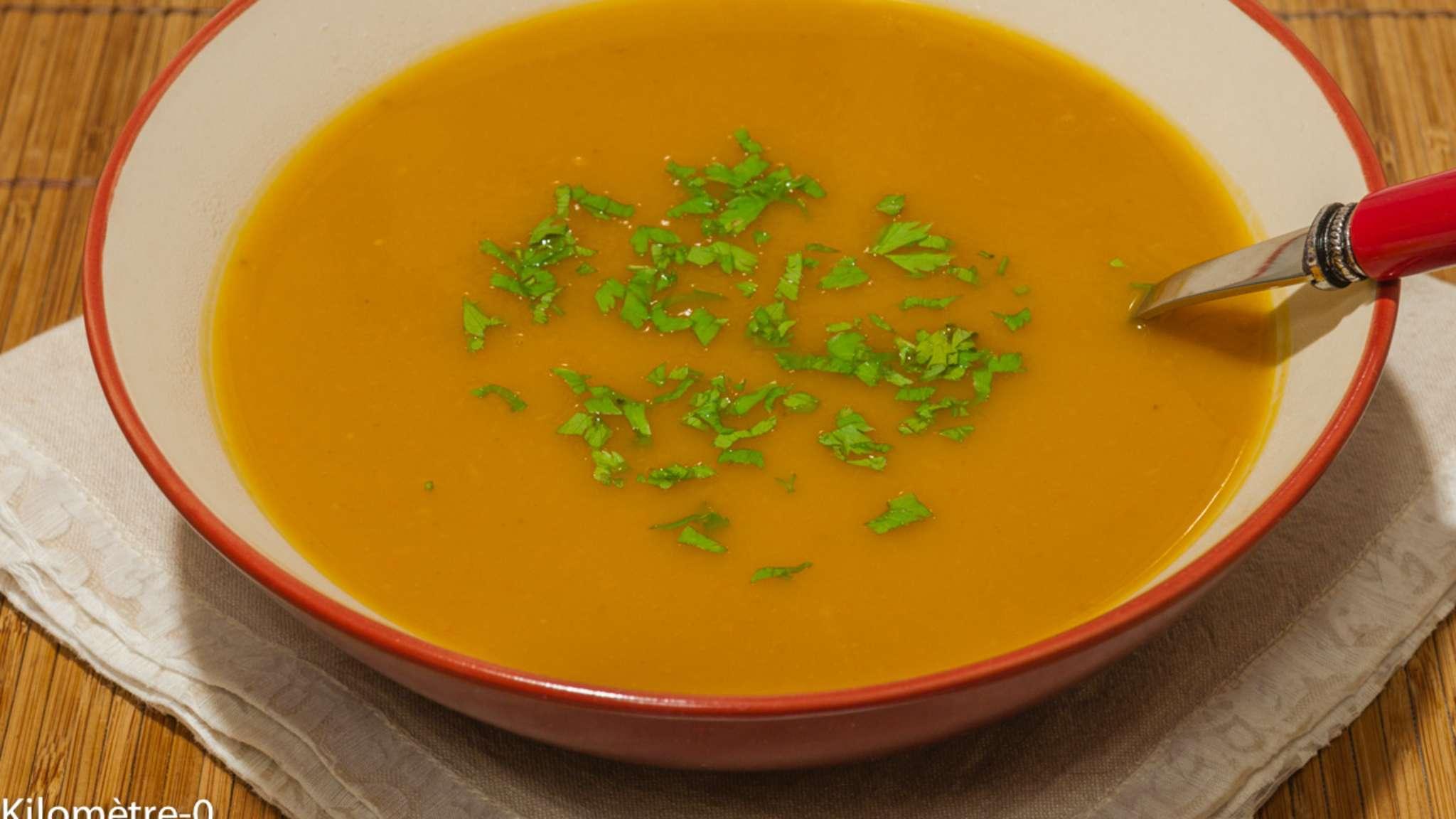 Soupe de potimarron aux châtaignes