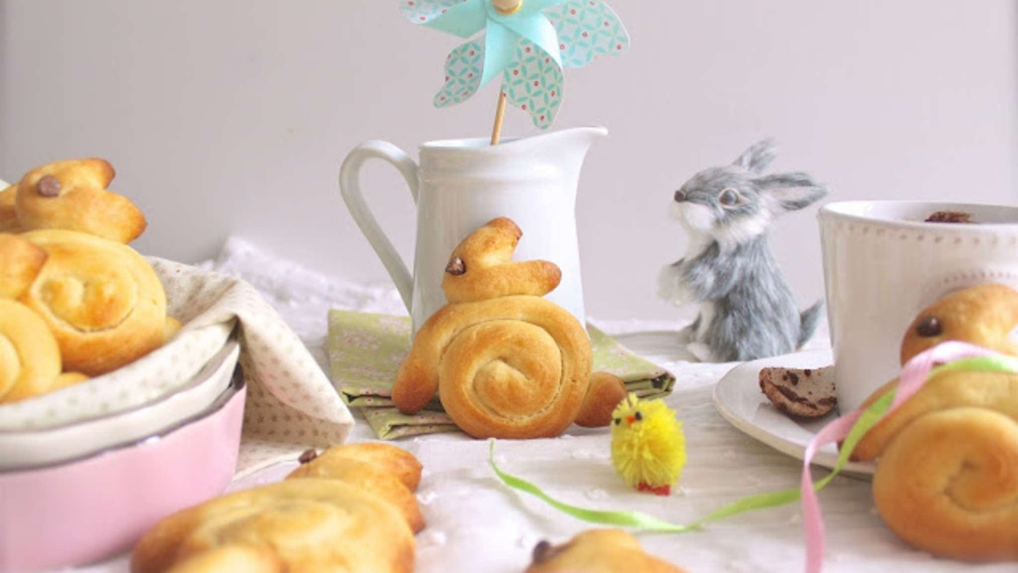 Petits lapins briochés de Pâques