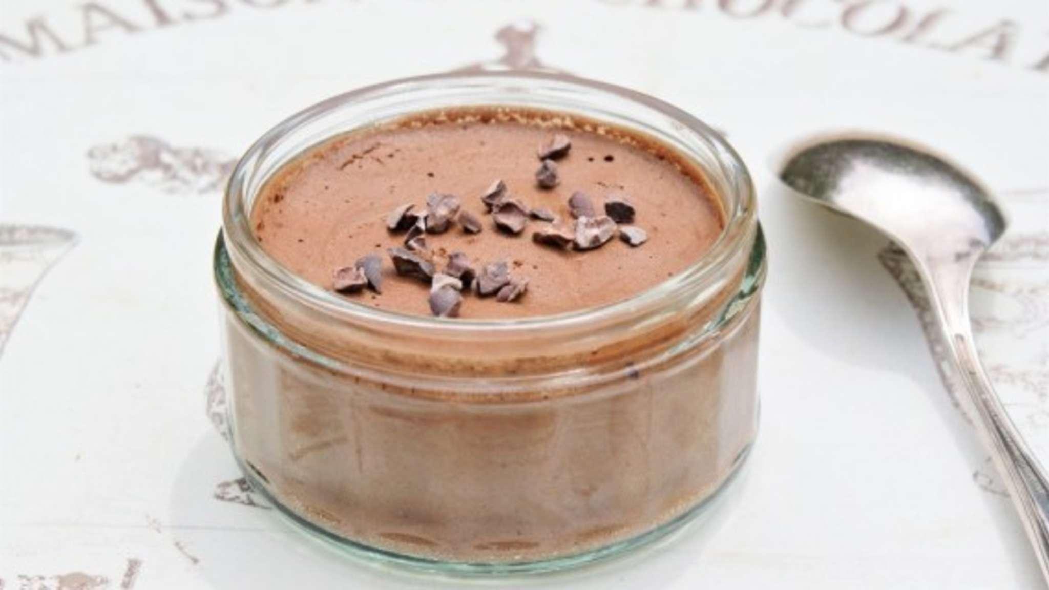 Mousse au chocolat végétale à l'aquafaba
