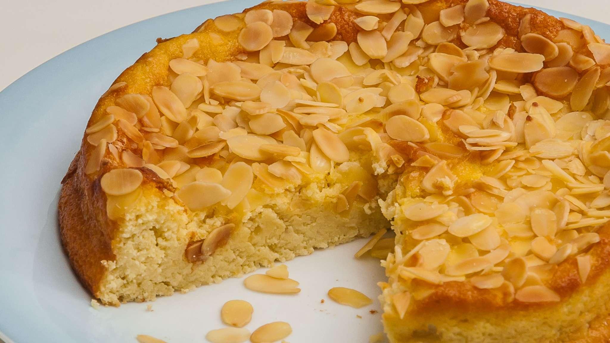 Gâteau à la ricotta, limoncello et amandes