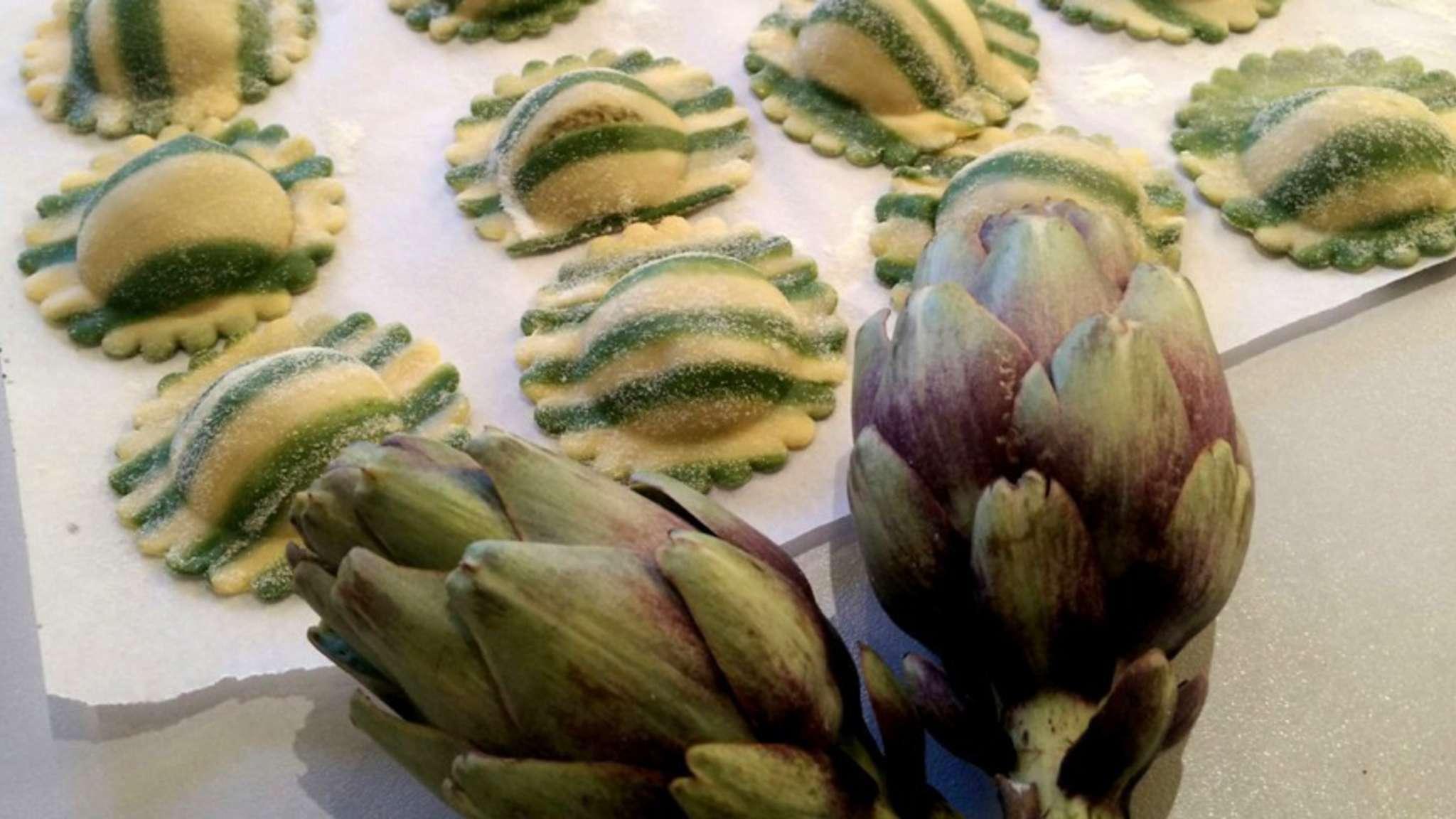 Raviolis aux artichauts barigoule