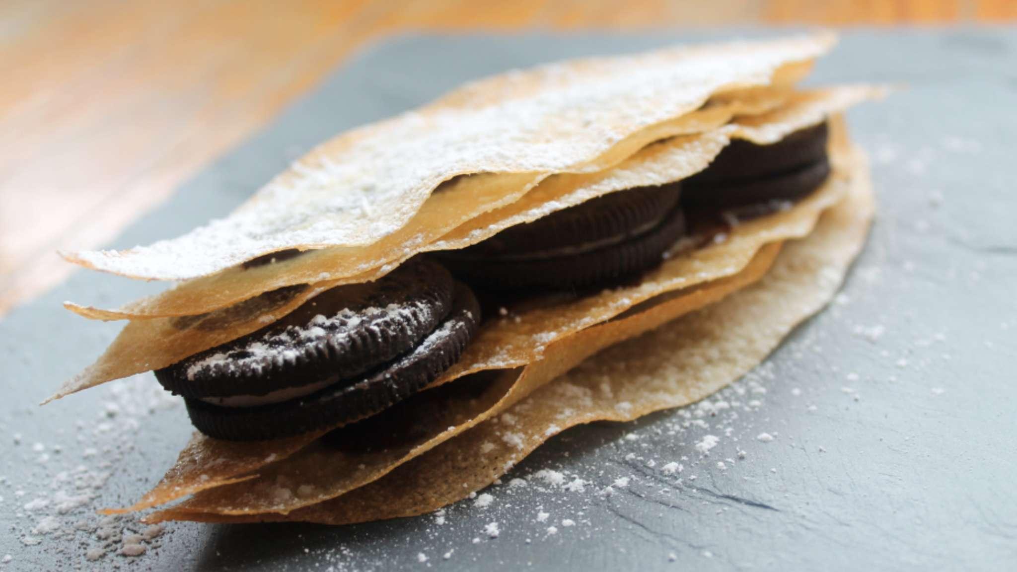 Mille-feuilles de bricks chocolat-Oreo