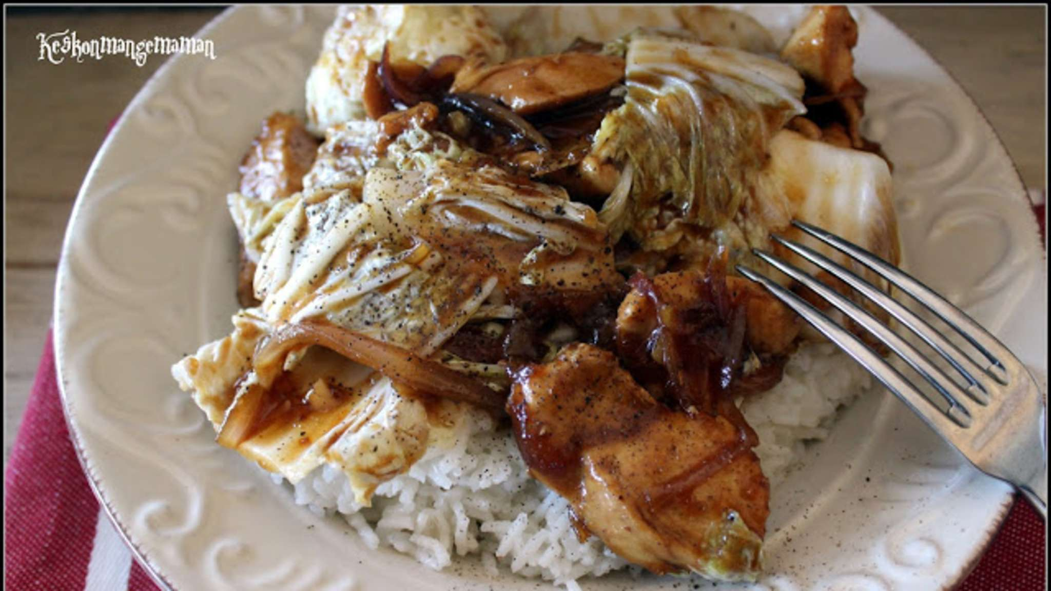 Poulet adobo philippin