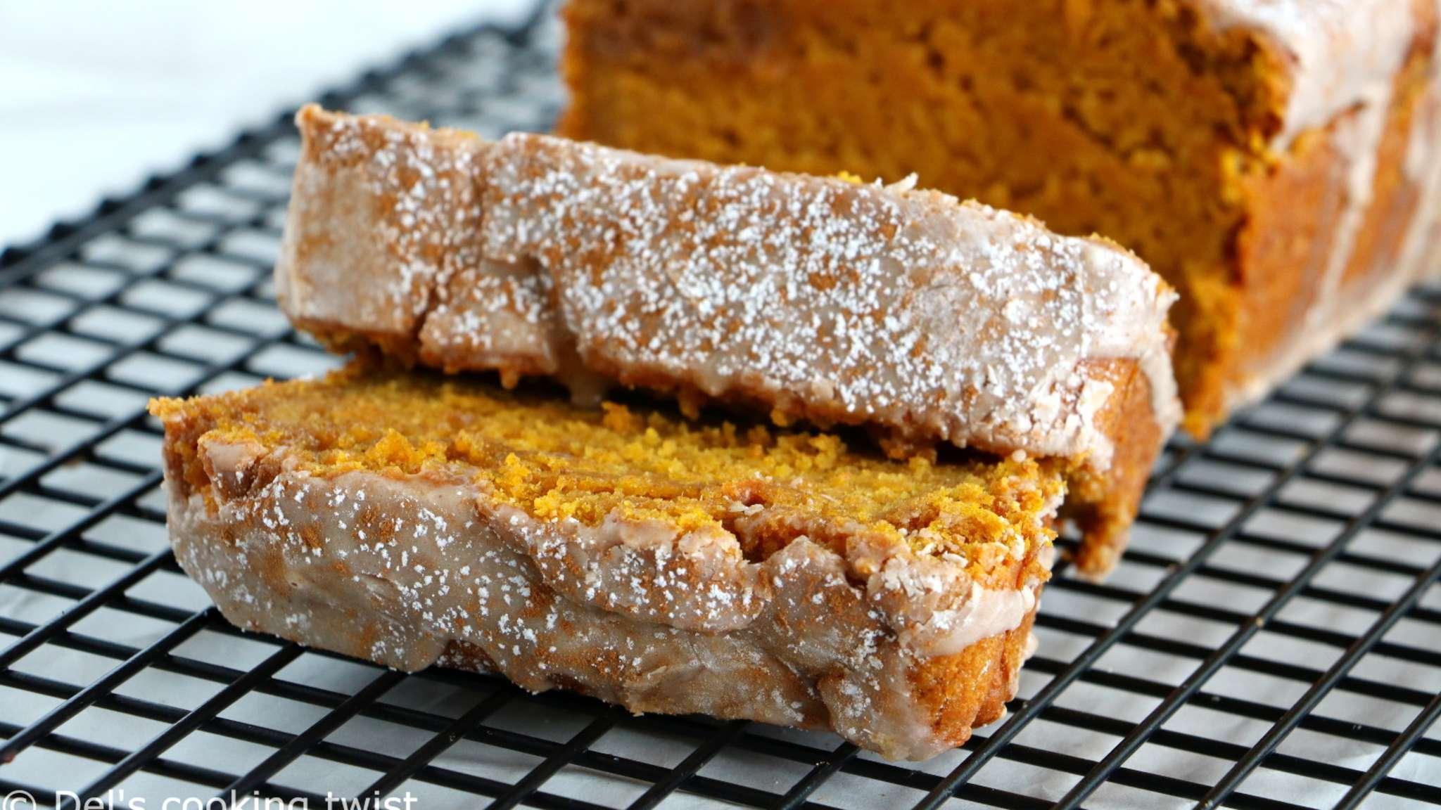 Pumpkin bread américain