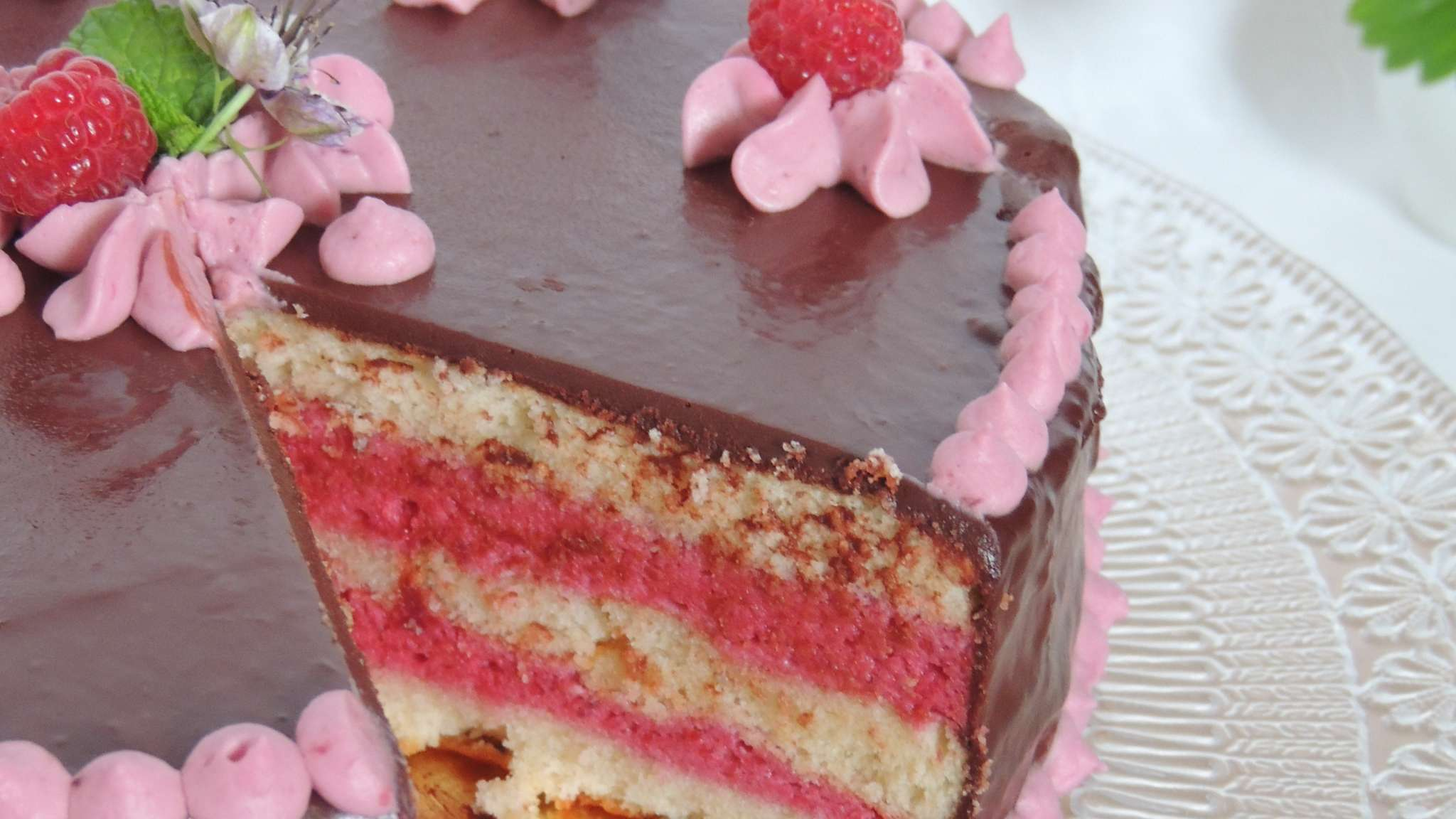 Layer cake mûre chocolat