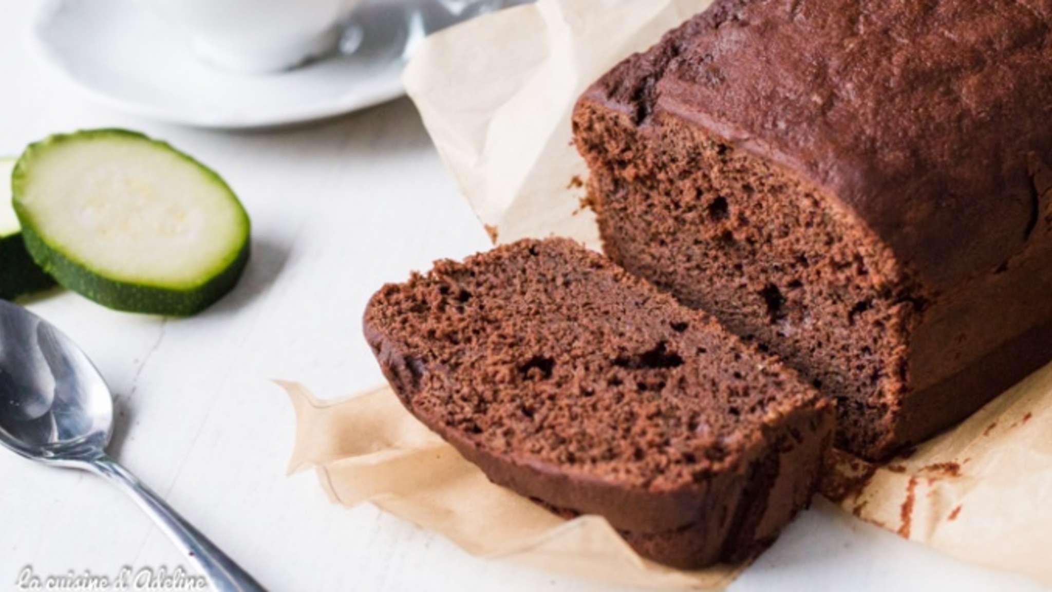 Cake au chocolat et à la courgette sans beurre