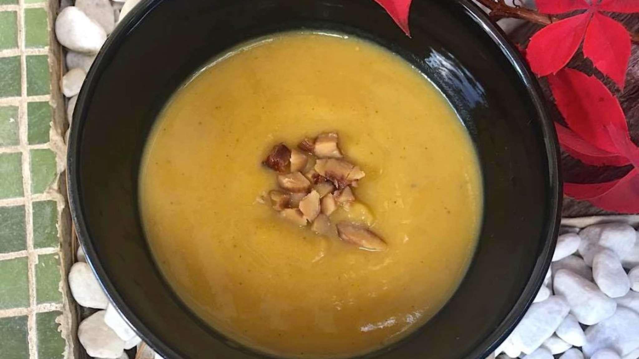 soupe épicée à la châtaigne