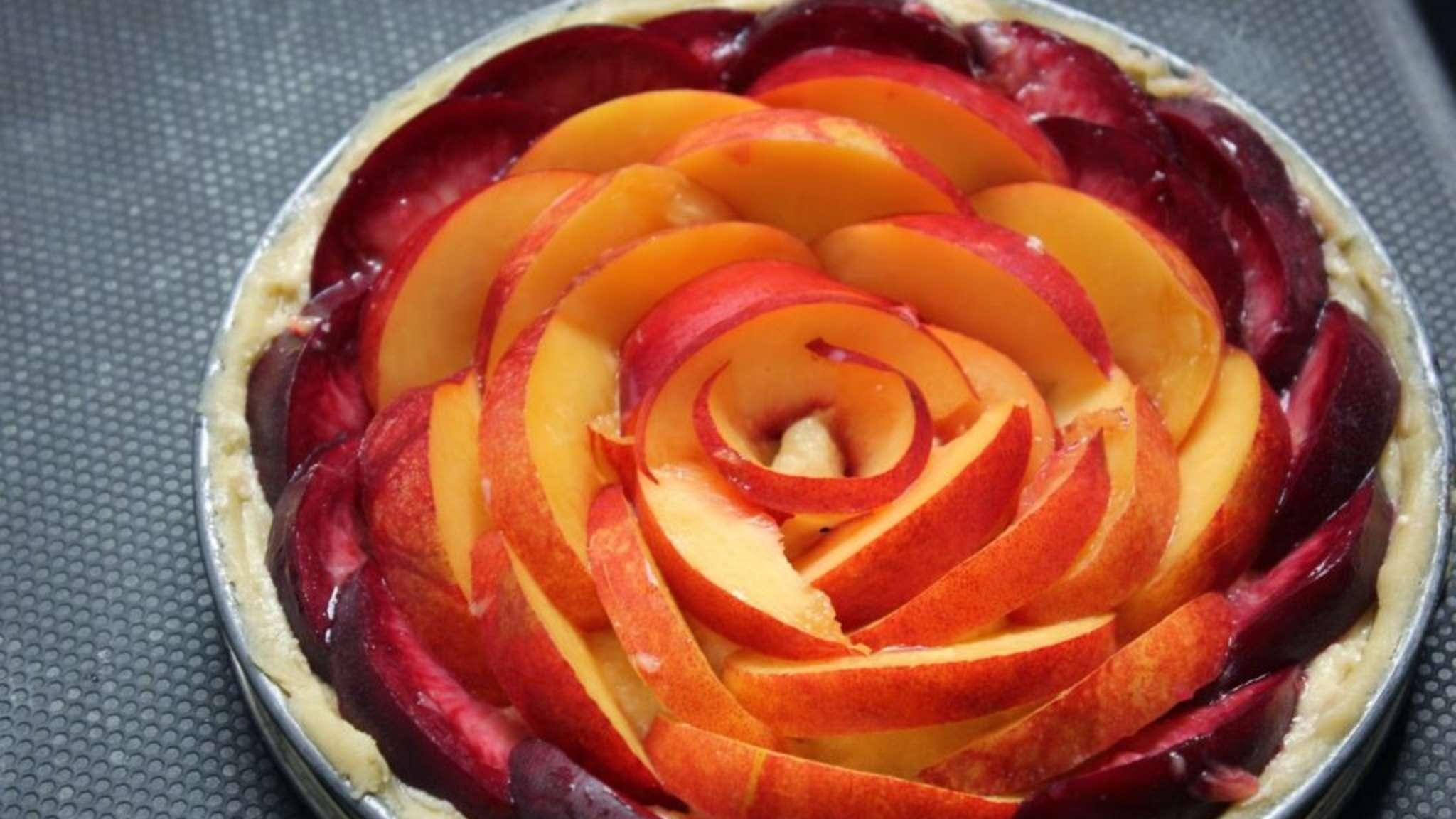 Tarte amandine aux nectarines