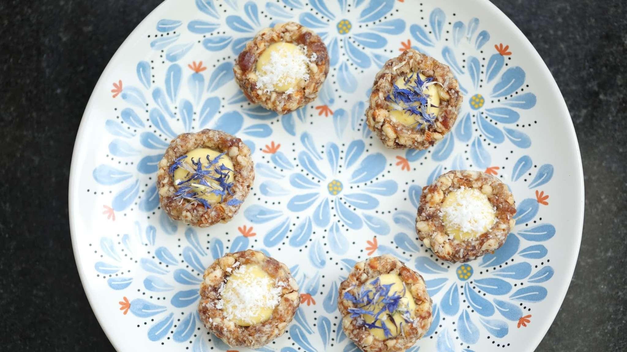 Minis tartelettes sans cuisson mangue passion