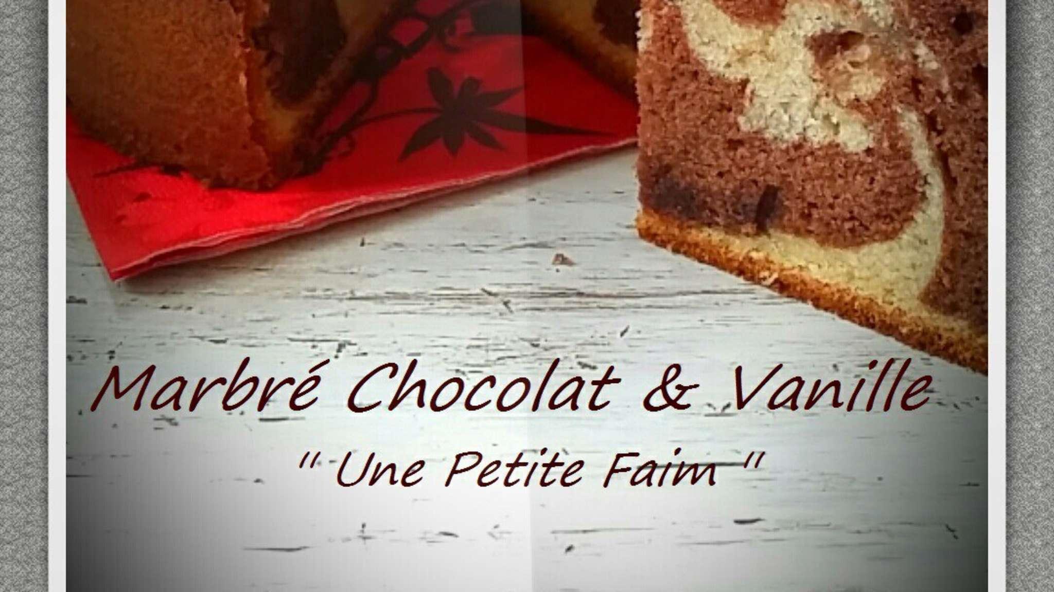 Marbré chocolat et vanille