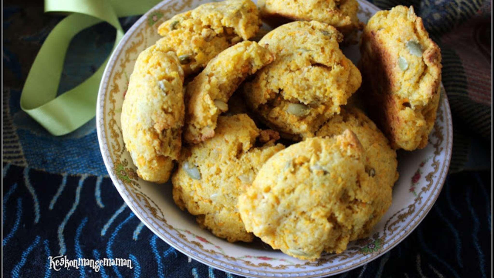 Cookies à la carotte , graines de courge et cumin