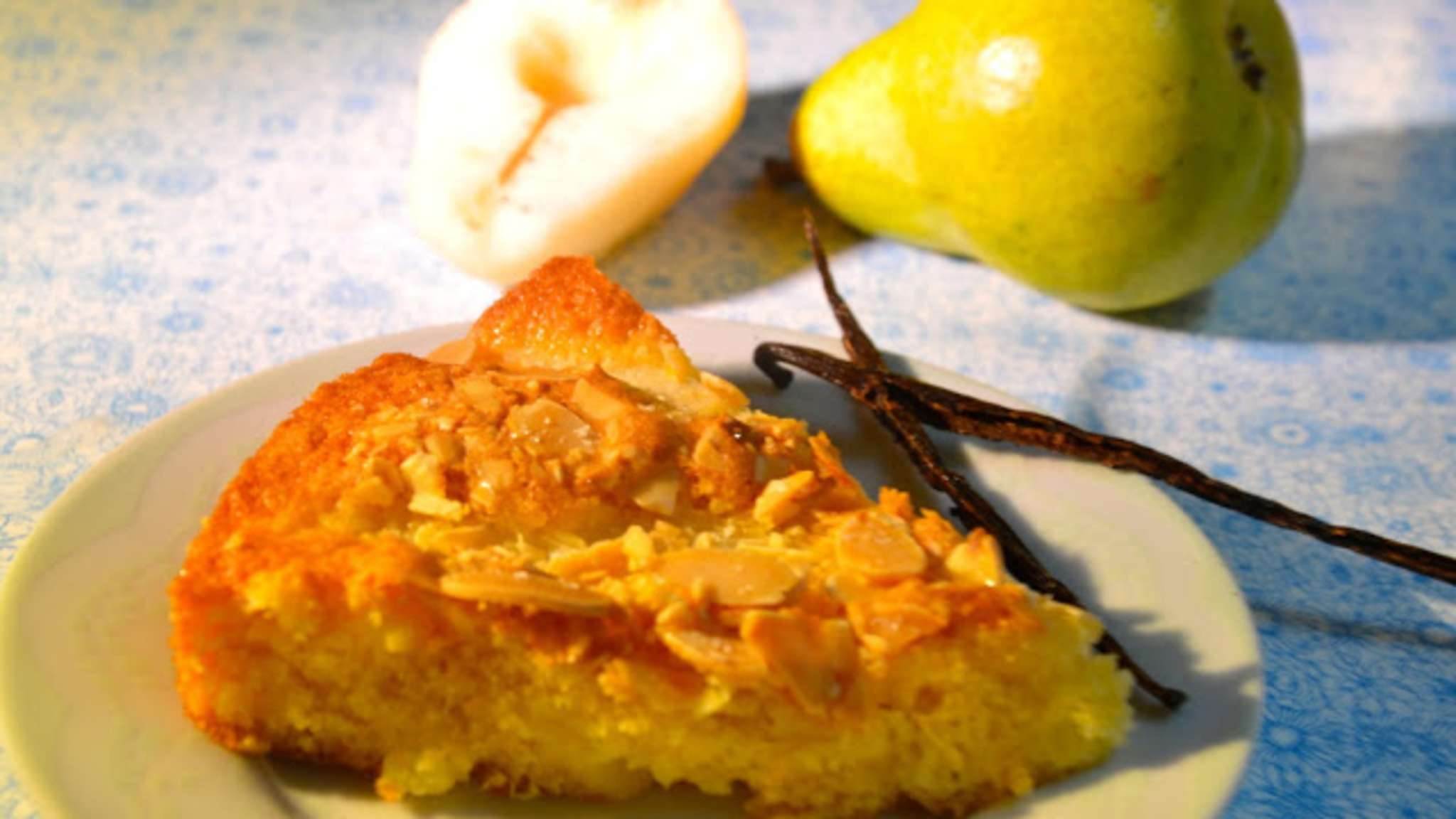 Le gâteau amandes et poires