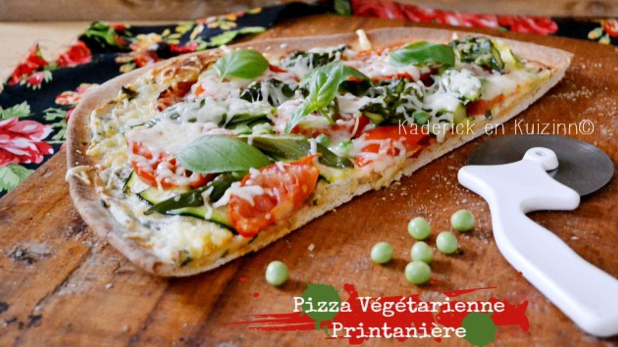 Pizza végétarienne aux légumes bio ricotta coriandre