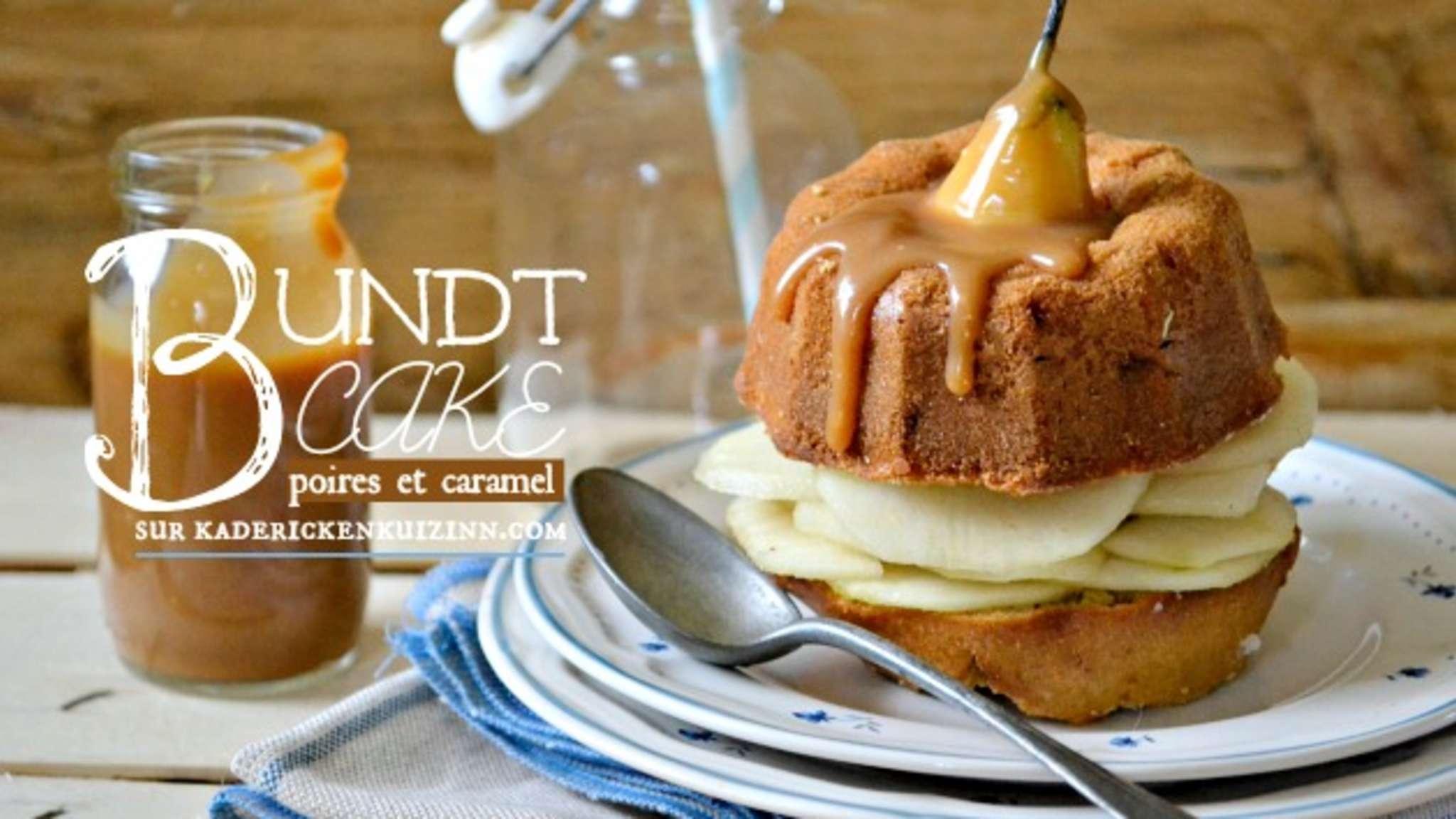 Bundt cake aux noisettes poires et caramel beurre salé