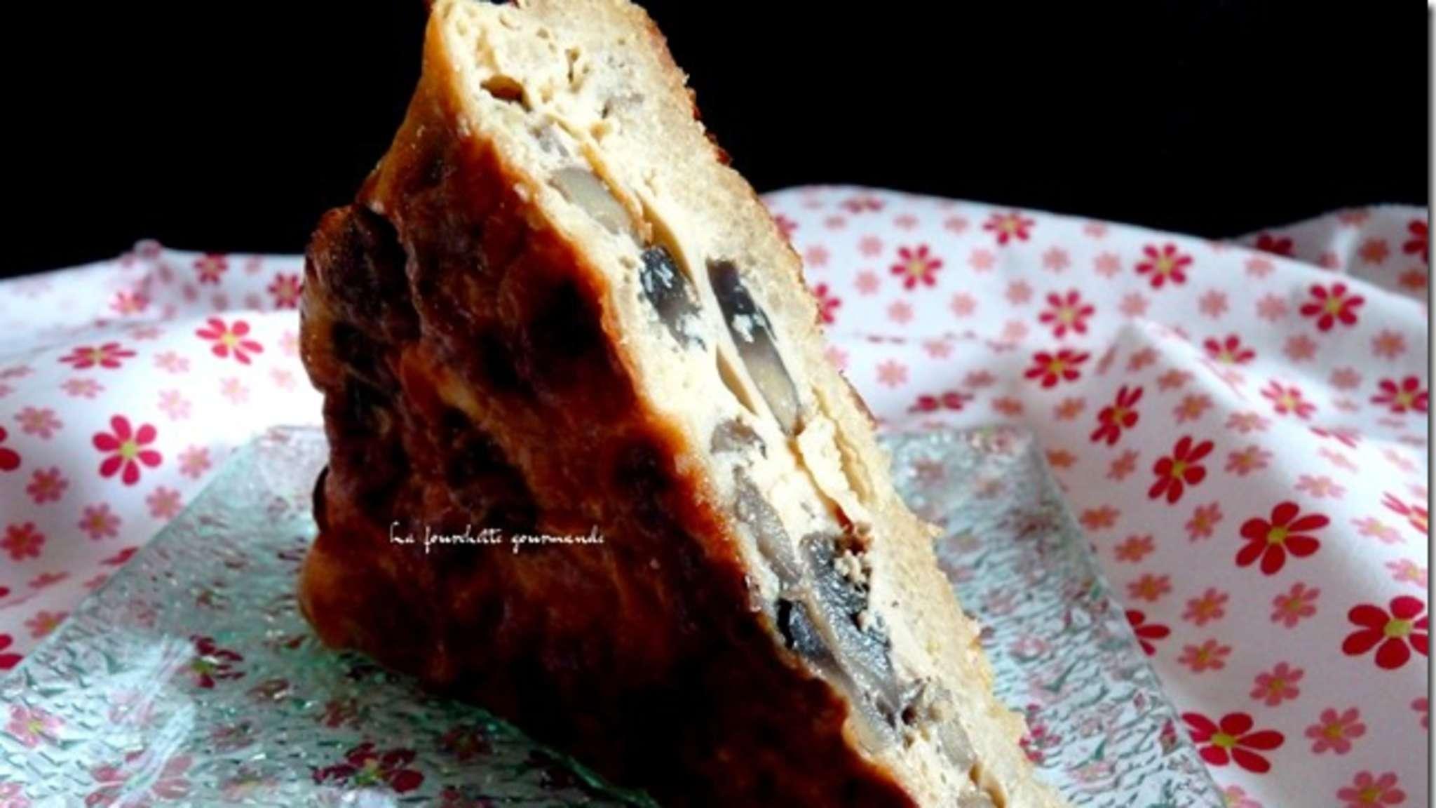 Quiche aux champignons, croûte de quinoa
