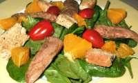 Salade d'aiguillettes de canard à l'orange