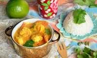 Curry de gambas à la noix de coco fraiche