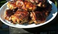 Poulet farci aux champignons, grillé au barbecue ou à la plancha