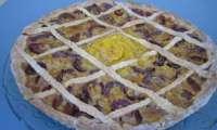 Tarte prunes rouges, orange, cannelle
