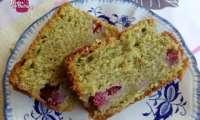 Cake au thé Matcha Framboises