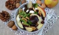 Salade pomme cranberries noix