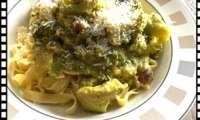 Tagliatelles au poulet curry/coco