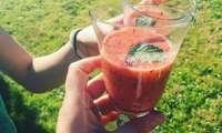 Cocktail frappé fraises myrtilles