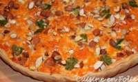 Quiche aux patates douces, amandes et gorgonzola