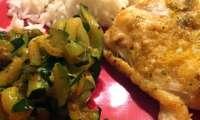 Dos de cabillaud et courgettes aux saveurs orientales et sa sauce citronnée