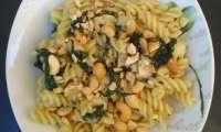 Fusilli épinards frais, gorgonzola et poires